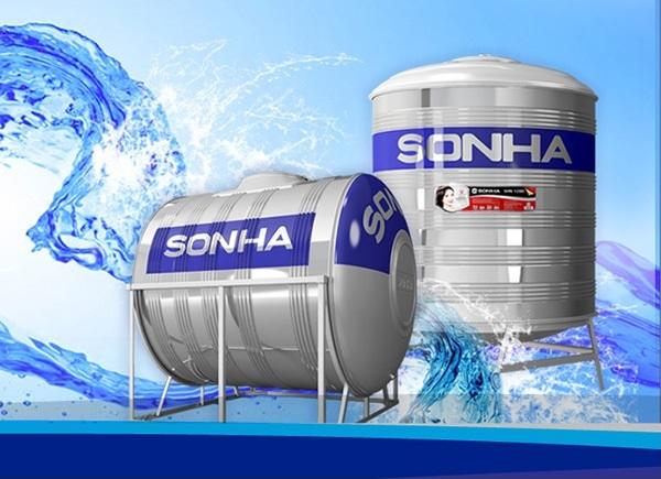 Bồn nước inox công nghiệp Sơn Hà an toàn về nước sạch